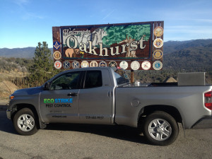 eco strike truck in front of oakhurst sign
