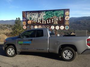 eco strike truck in front of oakhurst sign